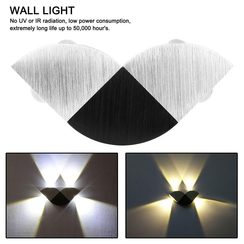 Lemonbest Modern Aluminum Hollow Cylinder 5w Led Wall Lamp