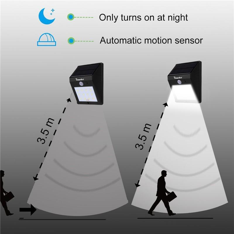 Waterproof Solar 12 Led Light Motion Sensor Wall Lamp Cool