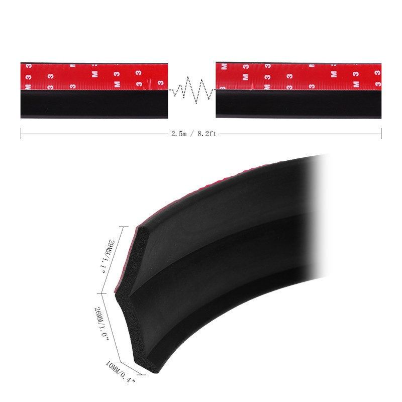 Universal Tpvc Car Sticker Lip Skirt Protector Car Front