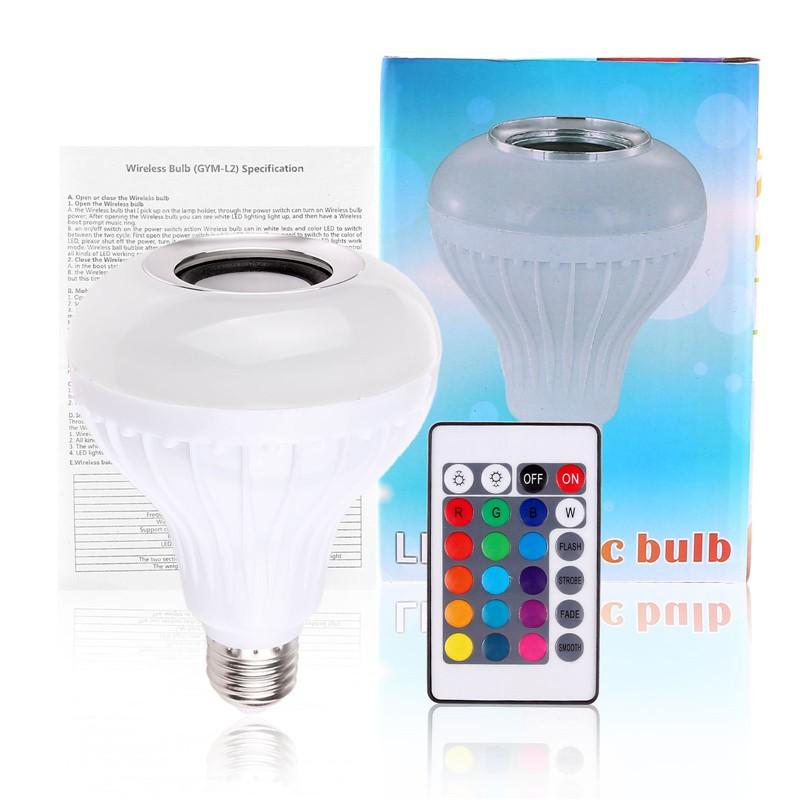 Bluetooth 3 0 music audio rgb speaker light rgb 6w e27 led for Best bluetooth light bulb speaker