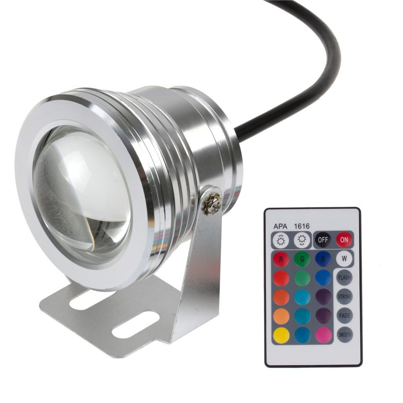 24key Ir Remote Controller Excellent In Cushion Effect Led Lamps Led Underwater Lights New 10w 12v Underwater Rgb Led Light 1000lm Waterproof Ip68 Fountain Pool Lamp Lights16 Color Change