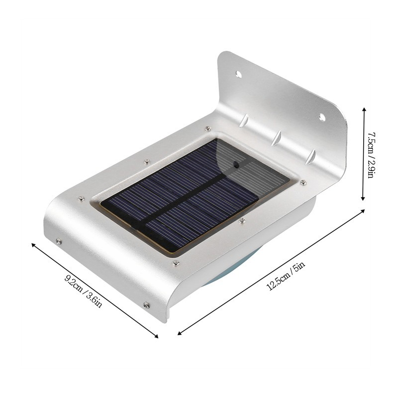 Garden Fence Wall Solar Lights : LemonBest-Waterproof 24 LED Solar Powered Motion Sensor Light Wall Mount Lamp Night Light for ...