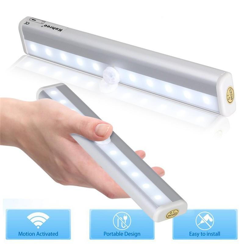 Lemonbest Wireless Motion Sensor 10 Led Night Light Wall