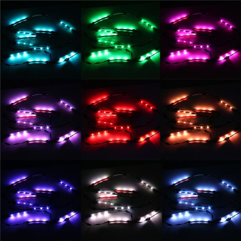 10pcs Rgb Led Motorcycle Car Chopper Frame Glow Light