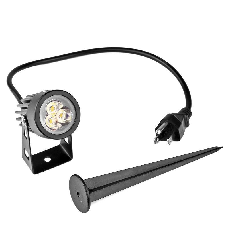 LemonBest-US Plug 3W LED Mini Lawn Garden Flood Light Yard Patio ...
