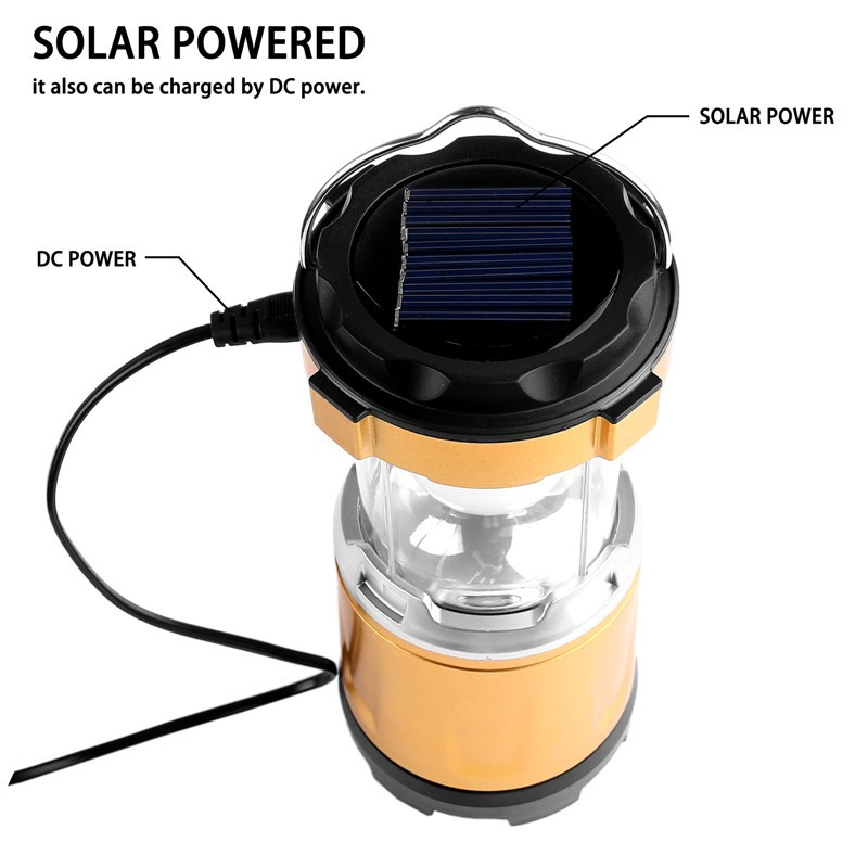 Multi Function Rechargeable Collapsible Led Solar Camping