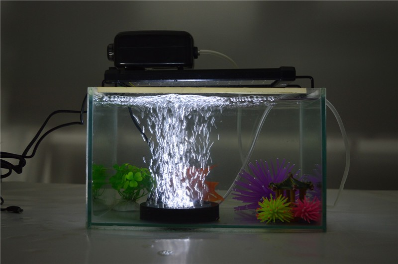 Submersible Rgb 12 Led Aquarium Light Round Fish Tank Air