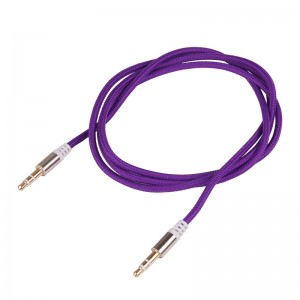 LemonBest-3.5mm Male to Male Stereo Audio Jack AUX Auxiliary Cable Braided for iPod   MP3 iPhone 6