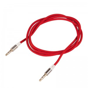 LemonBest-(Red)3.5mm Male to Male Stereo Audio Jack AUX Auxiliary Cable Braided for   iPod MP3 iPhone 6