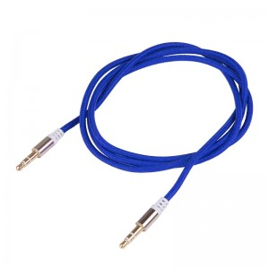 LemonBest-(Blue)3.5mm Male to Male Stereo Audio Jack AUX Auxiliary Cable Braided for   iPod MP3 iPhone 6