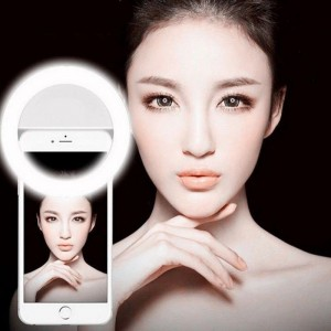 Portable Selfie LED Ring Fill Light Camera for iPhone Android Phone