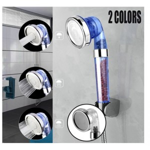 Shower Bath Head Adjustable 3 Mode High Pressure Stone Stream Handheld Shower Head