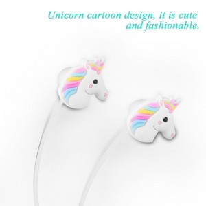 Cute Unicorns Cartoon In-ear Headsets Earphones Headphones Earbuds for Samsung iPhone Tablets Android Phones