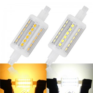 5W/10W/12W/15W 360°Beam 78mm R7S 2835SMD Horizontal Plug Lights Flood Light Corn Lamp Bulb Warm White/Cool White AC 85-265V