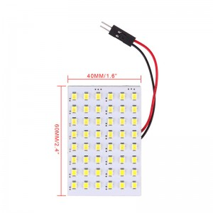 LemonBest-2pcs T10 SMD 48 LED Car Interior Panel Light Festoon Dome Bulb Lamp Cool   White 12V