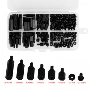 180pcs M3 Nylon Hex M-F Spacers/ Screws/ Nuts Assorted Kit Standoff M3*6 to M3*20