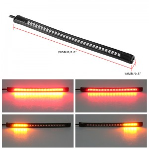 LemonBest-Universal Flexible 32LED Motorcycle Light Strip Tail Brake Stop Turn Signal Lights License Plate Light 8