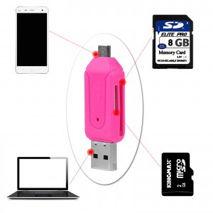 Universal Mobile Phone OTG Card Reader PC USB/Micro USB Card Readers TF / SD flash Femory