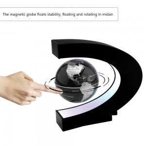 World Globe C Shape Magnetic Levitation Floting Globe World Map