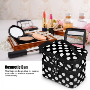 Multifunction Double Layer Cosmetic Bag Makeup Case Pouch Travel Toiletry Zip Organizer Women