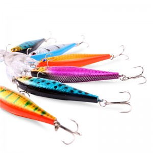 10pcs Dive Artificial Minnow Hooks Bait Hard Fishing Lures