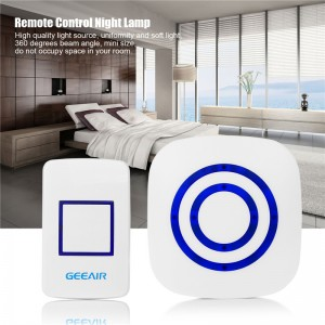 Stepless Dimmer LED Light Wall Lamp Remote Control Night Lamp Support USB Powered