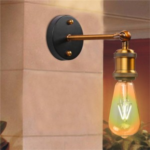Adjustable Vintage Industriial Metal Wall Light Sconce Wall Lamp Fixtures E27