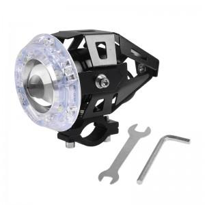 LemonBest-U5 125W LED Motorcycle Headlight Fog Spot Light Lamp Angle Eyes Devil Eyes 12-80V Waterproof