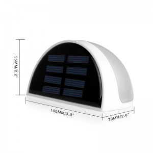 LemonBest-Solar Powered 6 LED Fence Light Auto ON/OFF for Gutter Outdoor Garden Yard   Lamp Roof