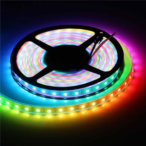 LemonBest-IP67 2811 IC SMD 5050 Dream Magic Color RGB 300-LED Strip Light String Lamp 5m/16.4ft 60LED/m DC 5V