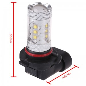 LemonBest-2 Pcs 9005 80W High Power LED White Car Fog Light Head Light Turn Signal Light Tail Brake Lamp Bulb