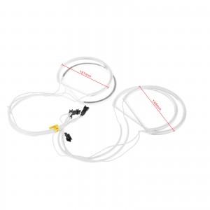 LemonBest-CCFL Car Angel Eagle Eyes Light Flexible Tube Headlight White Headlamp for BMW E36 3 E38 7 E39 5 E46 (131*2+146*2)