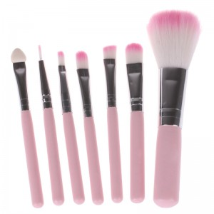 LemonBest-7pcs Professional Pink Makeup Brush Tool Set Eye Face Make-up Cosmetic Toiletry Kit