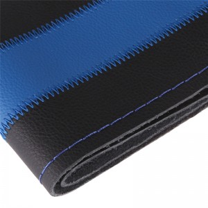 Universal DIY Leather Car Steering Wheel Cover Auto Car Stitch On Wrap Cover for Diameter 38cm Blue