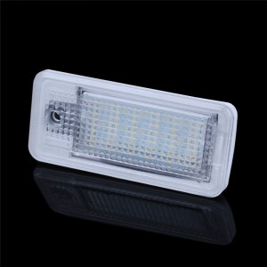 LemonBest-2 PCS LED License Plate Light No Error 3528 SMD Lamp for AUDI A3/S3 A4/S4 B6 A6/C6 A8/S8 RS4 RS6