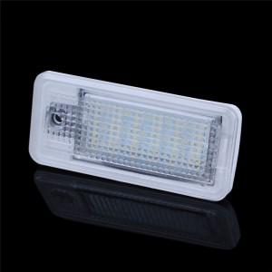 LemonBest-2 PCS LED License Plate Light No Error 3528 SMD Lamp for AUDI A3/S3 A4/S4 B6 A6/C6 A8/S8 RS4 RS6