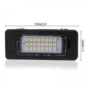 LemonBEST-2 PCS LED License Plate Light No Error Lamp SMD3528 for AUDI A4/A5/Q5/TT/TT-  RS/S4/PASSAT VW