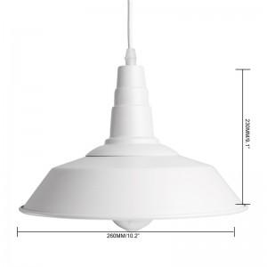 LemonBest-Industrial Vintage Loft Light Retro Pendant Lamp Sconce Factory Edison Ceiling Lights Fixtures Diameter 26cm/10.2