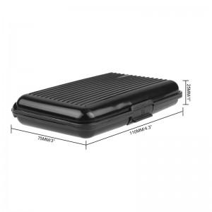 LemonBest-Waterproof Business ID Credit Card Wallet Holder Case Box with 6 Pocket