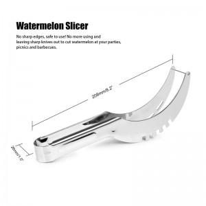 Stainless Steel Watermelon Slicer Fruit Melon Cutter Corer Scoop Kitchen Tool Utensils Slicy