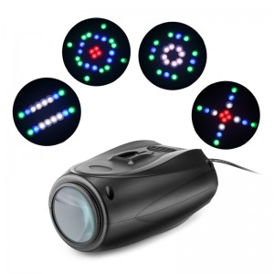 RGBW 64-LED Stage Light Disco Club Lights DJ Party Show Projector Lamp Support Music Control Up to 24 Kinds of Pattern
