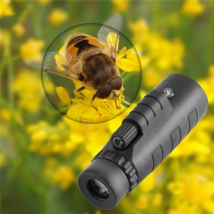 Universal 40x60 HD Optical Monocular Telescope Phone Lens with Phone Clip for Ball Game Concert Theater Opera with Green Film Multicoated Glass Lens and BK4 Prism