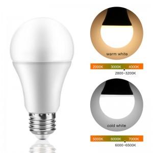 Lemonbest-Sensor Light Bulb, HAIMI TREE 7W E27 Smart Dusk to Dawn LED Bulb with Auto on/off Indoor /Outdoor LED Sensor Lighting Lamp for Porch Hallway Patio Garage