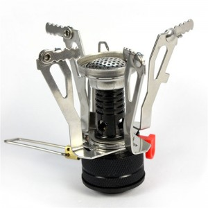 Lemonbest-Portable Ultralight Backpacking Canister Camp Camping Stove with Piezo Ignition Burner Stove