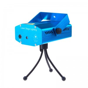 LemonBest-Mini Portable Mixed Green & Red Projector LED Mini Stage Light Laser Voice Control Lighting Show for DJ   Party Disco Club KTV