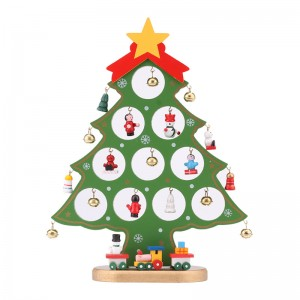DIY Mini Christmas Tree Wooden Christmas Ornaments Festival Party Xmas Tree Table Desk Decoration