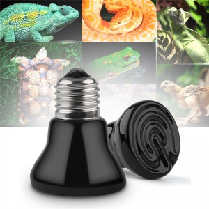 Lemonbest  Pet Ceramic Infrared Heat Lamp Pet Small Animal For Winter Heating Lamp 25W-100W  E27 Bulb