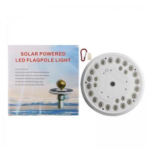 Lemonbest Waterproof Solar Flagpole Light 26 LED Lamp Night Sensor Auto ON/OFF Downlight Outside Lamp With Carabiner Button LED lights