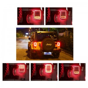 Snake Style Car LED Right Rear Reversing Brake Light Turn Signal Tail Light for 2007 - 2016 Jeep Wrangler JK