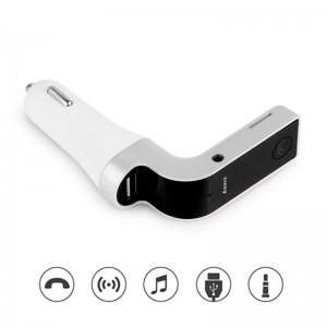 Bluetooth Wireless Car MP3 Music Player Kit Wireless FM Transmitter Radio with LCD Display USB TF Mic